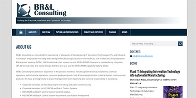 BRL Consulting website image