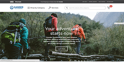 Gander Outdoors website image