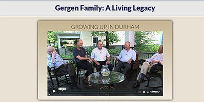 Gergen Family website image