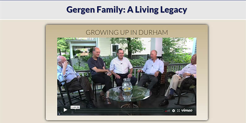 Gergen Family Website
