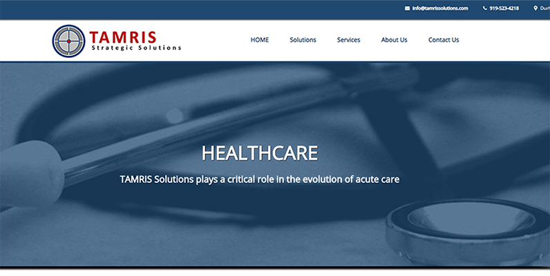 TAMRIS Solutions website