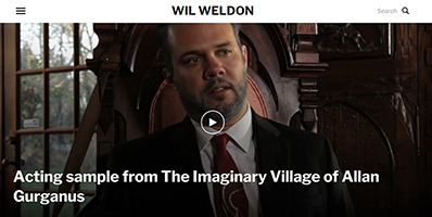 Wil Weldon website image